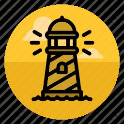 beacon, lighthouse, marine, navigation, sail, sailing, sea icon