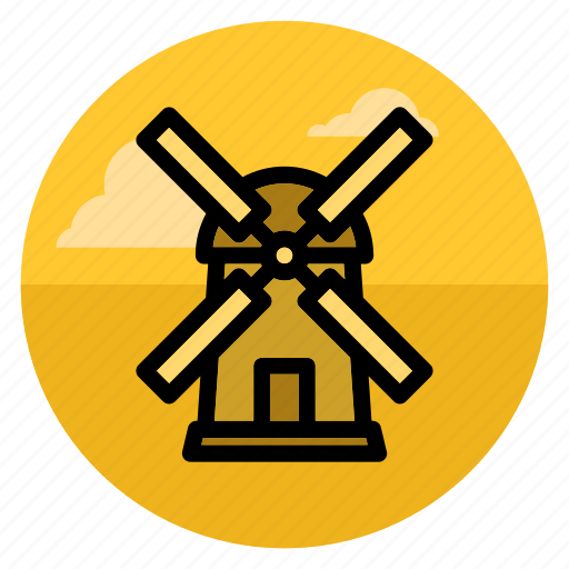 agriculture, building, farm, industry, mill, wind, windmill icon