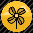 fan, paperspin, pinwheel, rollingpin, toy, twirl, wind icon