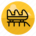 amusement, attraction, coaster, fun, park, roller, roller coaster icon