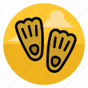 dive, diving, flippers, sea, shoe, swim, swimming icon