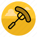 barbecue, bbq, cooking, grill, meal, meat, sausage icon