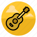 acoustic, guitar, instrument, music, musical, play, song icon
