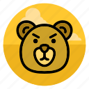 animal, bear, grizzly, pet, polar bear, teddy, wild icon