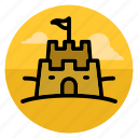 beach, castle, sand, sand castle, sandcastle, summer, vacation icon