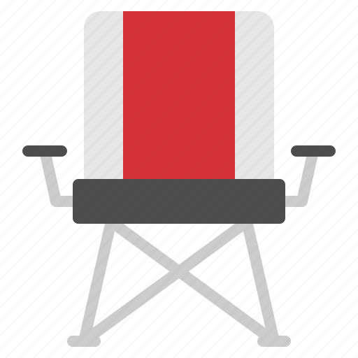 camping, chair, field, furniter, picnic icon
