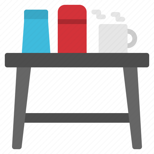coffee, cup, drink, hot, table icon