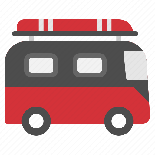 camping, travel, vacation, van, vehicle icon