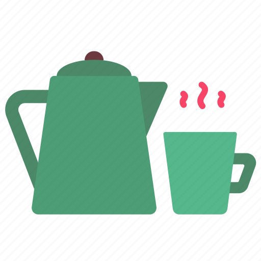 Camp, coffee, cooking, drink, hot, kettle, pot icon - Download on Iconfinder