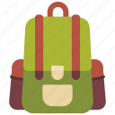 adventure, backpacker, bag, camping, outdoor, school, travel