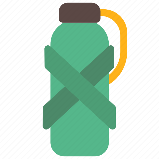 Adventure, bottle, camp, camping, food, outdoor, water icon - Download on Iconfinder