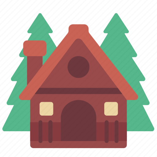 cabin, camp, camping, forest, house, hut, nature icon