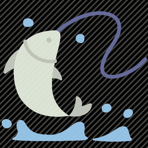 fish, fishery, fishing, food, lifestyle, recreation, water icon