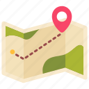 camp, direction, gps, map, navigation, outdoor, travel icon