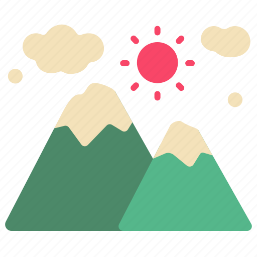 camp, camping, forest, hill, mountain, nature, weather icon