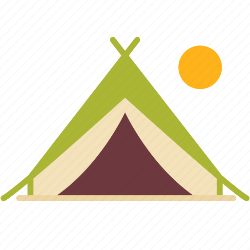 Camp, camping, moon, outdoor, sleep, tent, travel icon - Download on Iconfinder