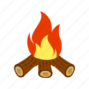 bonfire, camping, outdoor