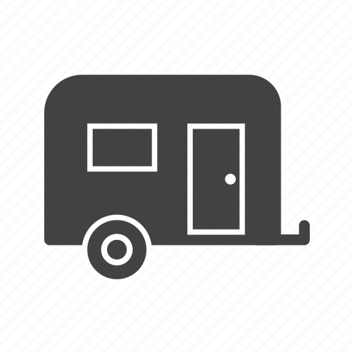 camp, camping, campsite, caravan, trailer, trailers, travel icon