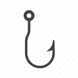 anchor, double, fishhook, fishing, hook, metal, shape icon
