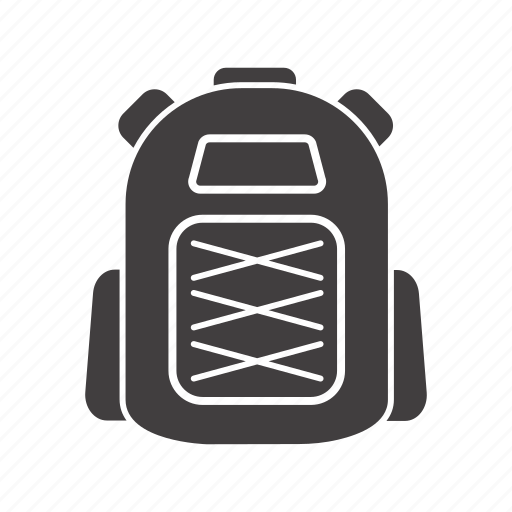 backpack, camping, haversack, knapsack, packsack, rucksack icon