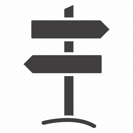 arrow, direction, guidance, guide, guidepost, post, signpost icon