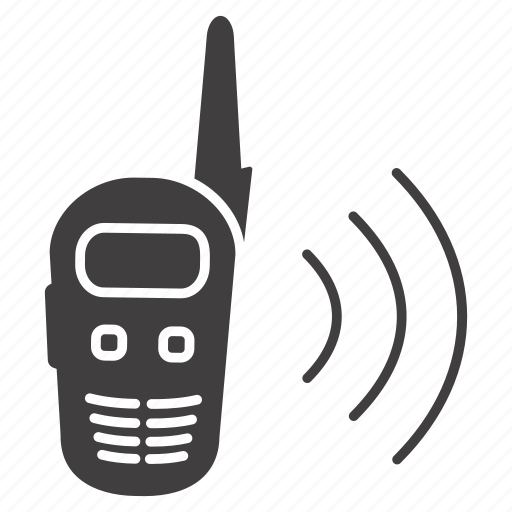 camping, communication, connection, phone, radio set, telephone, walkie-talkie icon