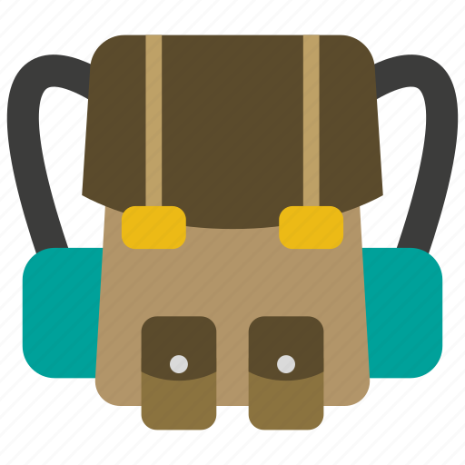 backpack, bag, camping, school, travel, vacation icon