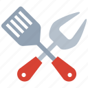 bbq, cutlery, grill, kitchen, spoon icon