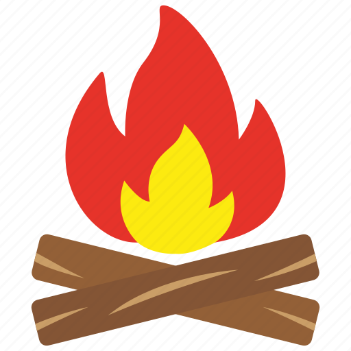 burn, fire, flame, hot, light, wood icon