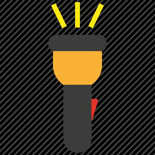 flashlight, light, pocket icon