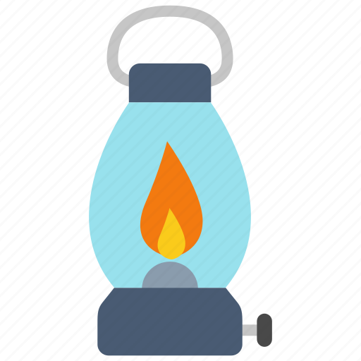 bulb, lamp, lantern, light, oil icon