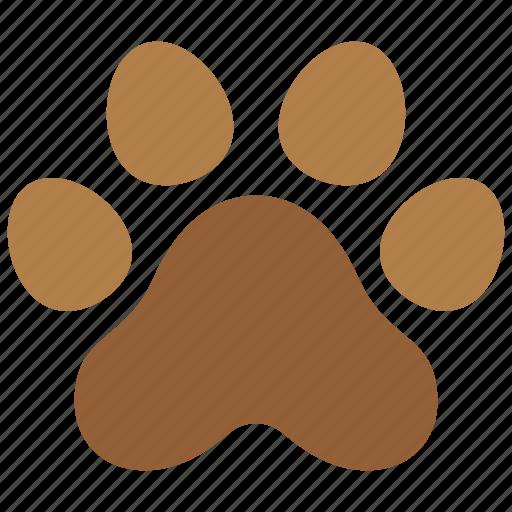 animal, dog, paw, pet, print icon