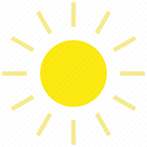 forecast, hot, summer, sun, sunny, weather icon