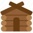 building, home, house, property, wood, wooden icon