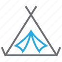 adventure, camp, tent, travel icon