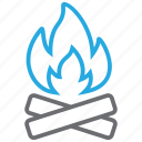 burn, camping, fire icon