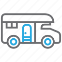 house, living, mobile, truck icon
