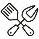 bbq, cutlery, fry, grill, kitchen, spoon icon