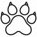animal, cat, dog, paw, pet, print, wild icon