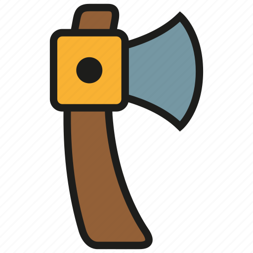 axe, hatchet, tool, weapon, wood icon
