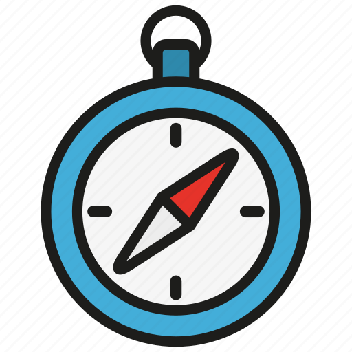 compass, direction, location, navigation, north, south, tool icon