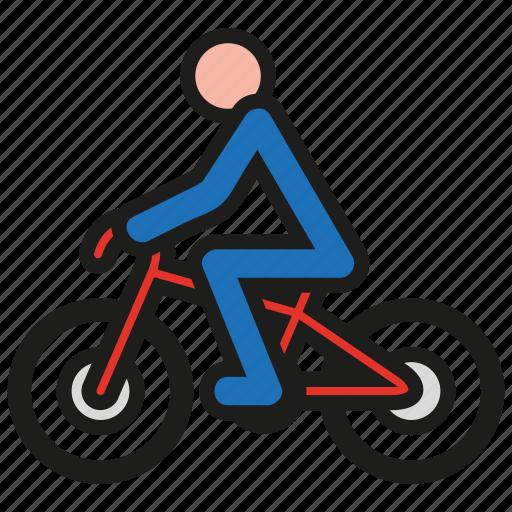 bicycle, bike, biker, cycle, cycling, sport icon