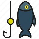 animal, bluefin, fish, fishing, hook, sea, tuna icon