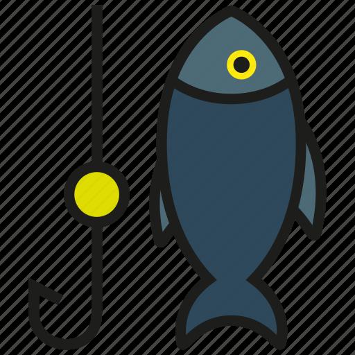 animal, bluefin, fish, fishing, hook, sea, tuna icon