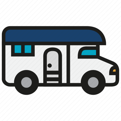 camp, camping, home, house, living, truck, vehicle icon