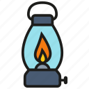bulb, gas, lamp, lantern, light, oil icon