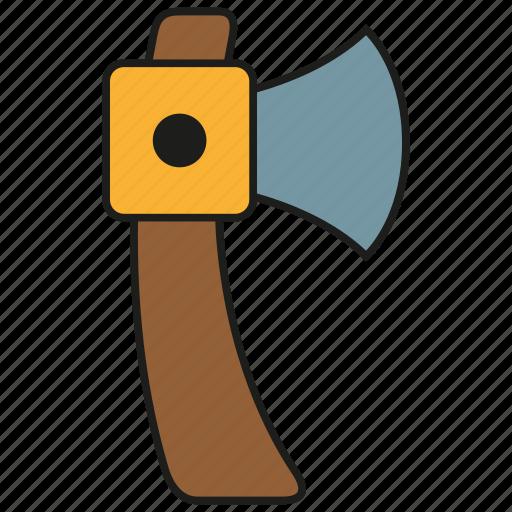 axe, cut, hatchet, tool, weapon, wood icon