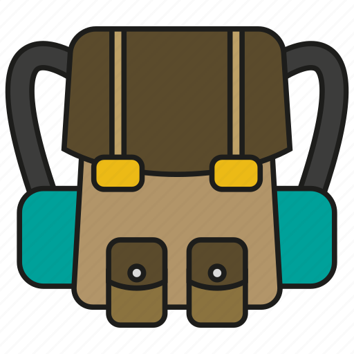 backpack, bag, camping, school, travel icon