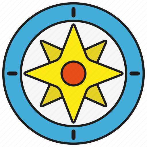 compass, direction, east, location, navigation, tool, west icon