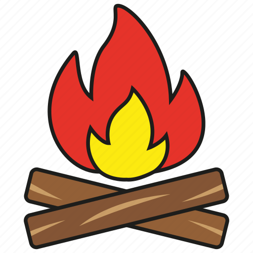burn, camping, fire, flame, hot, light, tent icon